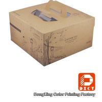 Quality Brown Kraft Paper Cake Packaging Boxes , Recyclable Square Cake Boxes With for sale