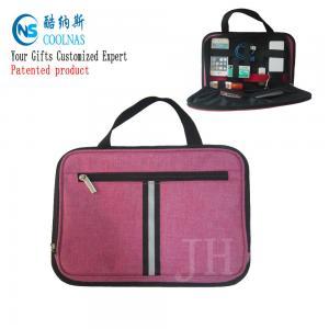 Electronics Travel Organizer Storage Bag , Pink Gadget Case Organizer Manufactures