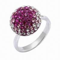 925 Sterling Silver Ring, Decorated with Crystal Stones, OEM and ODM Orders Welcomed Manufactures