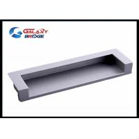 Zinc Alloy Satin Black Hidden Kitchen Cabinet Door Pulls 128mm GLHH2138 Concave Dresser Knobs Manufactures