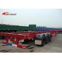 China Startrailer Red Color Gooseneck Skeletal Container Trailer For Truck , Long Life on sale