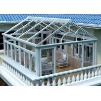 Safety Glass Villa Aluminium Frame Greenhouse Sunroom For Leisure Life Manufactures
