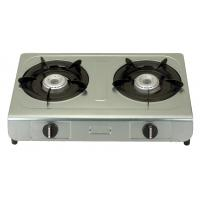 Table Top Electric Ignition Gas Stove With 2 Burner Stainless Steel Panel Manufactures