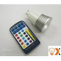 5w/80mm×50mm RGB color changing led GU10 light bulb and remote AC90 - 240V,50-60 Hz Manufactures