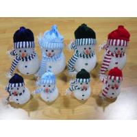 Quality Multi Color  EVA  LED Flashing Snowman Toy For Christmas Indoor Outdoor Decoration for sale