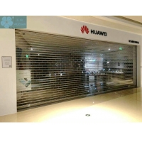 5000mm Width 16mm Tube Clear Roller Shutters For Shopping Mall Manufactures