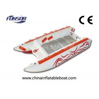 Comfortable Three Person 3.8m High Speed Inflatable Boats For Fishing Manufactures
