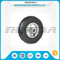 Bent Valves Pneumatic Rubber Wheels 6 Inches Roller Bearing For Hand Trolley Manufactures