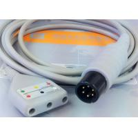 Gray Color 3 Lead Ecg Monitor Cable Excellent Compatibility CE Ul Iso Manufactures