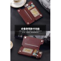 Iphone Leather Back Cover Wallet TPU Case , Brown Iphone6 Plus Leather Wallet Case Manufactures