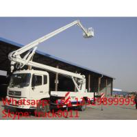 high quality and competitive price dongfeng tianjin 22m overhead working platform truck for sale, 190hp 22m bucket truck Manufactures