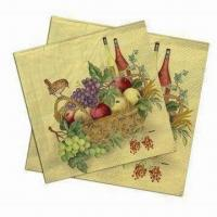 Cocktail Napkins, Made of 100% Virgin Wood Pulp, Used for Food Safe Oil Manufactures