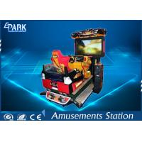 Funny 3D Dynamic Car Arcade Racing Game Machine For Amusement Park Manufactures