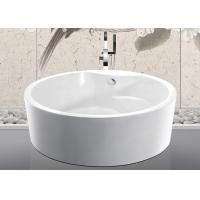 Custom Small Round Freestanding Bathtub With Pop - Up Drain 1500x1500x600mm Manufactures