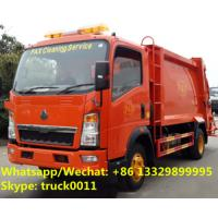 SINO TRUK HOWO 4*2 RHD 5CBM 4tons wastes collecting vehicles, refuse garbage trucks customized for Timor-Leste clients Manufactures