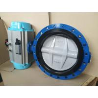 Stainless Steel Pneumatic Butterfly Valve Flange Type For Pneumatic Actuator Manufactures