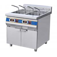 Two-Cylinder Four Basket Deep Fryer With Cabinet  Commercial Kitchen Equipments Manufactures