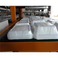 Styrofoam Automatic Vacuum Forming Cutting Stacking Integrated Machine For Food Container Manufactures