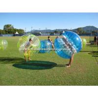 Yellow / Blue / Clear Inflatable Bumper Bubble Ball , Kids Or Adults Body Zorbing Manufactures