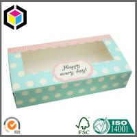Quality Light Blue Color Print Paper Packaging Box; Biscuit Paper Color Carton Box for sale