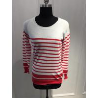 Combed Cotton Stripe Women'S Pullover Sweater Various Color 15JT011 Manufactures
