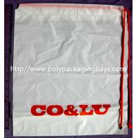 Personalized CPE / LDPE Plastic Drawstring Backpack Shopping Shoulder Tote Backpack Manufactures