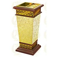 Restaurant Room Service Equipments , GPX-182 Wood Dustbin With Diamond Simulation Manufactures