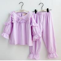 Gril's Spring Long Sleeve Pink  Pajamas Homewear  Leisure wear Manufactures