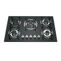 Black Stainless Steel 5 Ring Gas Cooker With Pulse Auto Ignition 580mm Length Manufactures