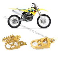 Left / Right Anodized Several Colors Dirt Bike Foot Pegs Suzuki RMZ 250 450 Manufactures