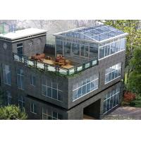 Eco Environmental Aluminium Frame Greenhouse Sunroom For High Level Villa Manufactures