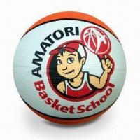 Basketball, Made of Rubber Material, Sized 5#, OEM orders Welcomed Manufactures