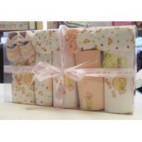 China Custom Eco -Friendly Printing / Dyeing Organic Cotton New Born Baby Baptism Gift Sets  on sale