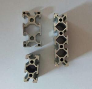 Silvery Anodized Industrial Aluminium Profile , Aluminium Alloy 6063 Extrusion Manufactures