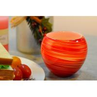 Colorful Glass Candle Holder for Wedding Decor , Red Yellow Color Material Mixed Planet Manufactures