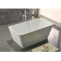 Quality Customized Acrylic Free Standing Bathtub With Center Position Drainer for sale
