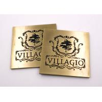 Zinc Alloy Metal Name Plates Die Casting Engraved Carving Plated Antique Bronze Manufactures