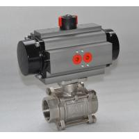 Thread WCB Stainless Steel Pneumatic Ball Valve / 3 Way Flanged Ball Valve Manufactures