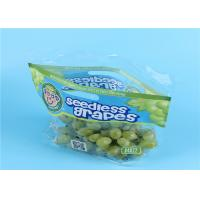 Clear Fruit Saver Bags , Customized Food Packaging Bags For Strawberry / Grape Manufactures