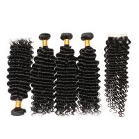 100% Brazilian Virgin Hair Top Quality Deep Curly Human Hair Bundles Manufactures