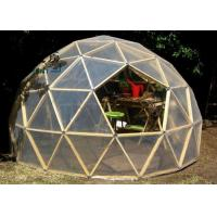 Q235 Multi-functional Transparent White Geodesic Dome Tent With Hop Dip Galvanized Steel Pipe Manufactures