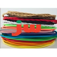 Quality Nylon Braided Electrical Cable For Lighting Application H03VV-F Lamp Cloth for sale