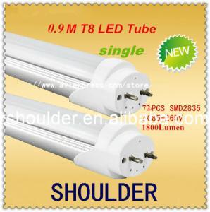 900mm 15w T8 3 ft led tube lamp light Top quality SMD 2835 72pcs 1800lm 25-27lu/led LED tube warm white cold white Manufactures