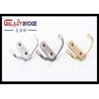 Solid Gold Cloth Hanging Cap Hooks , Zinc Alloy Silver Decorative Wall Mounted Back Holders Manufactures