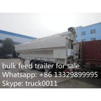 factory sale CLW 3 axle 30ton feed tank trailer for farm, best price 40-50m3 farm-oriented animal feed tank semitrailer Manufactures