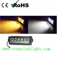 dual color  yellow and white color swichback LED Work Light Bar Offroad Driving Truck UTE Manufactures
