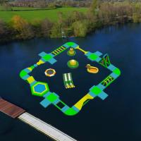 Quality inflatable water sports games floating water park water obstacle course for for sale
