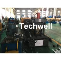 Carbon Steel Top Hat Channel Cold Roll Forming Machine With 1.5 Inch Chain Manufactures