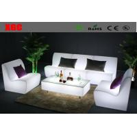 Rotomolding Plastic Straight LED Light Sofa Table Sets For Outdoor Events Manufactures