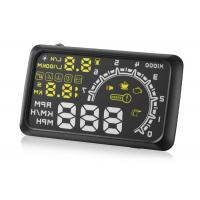 W02 HUD Driver Heads Up Display , 5.5 Inch White Yellow Auto Heads Up Display Manufactures